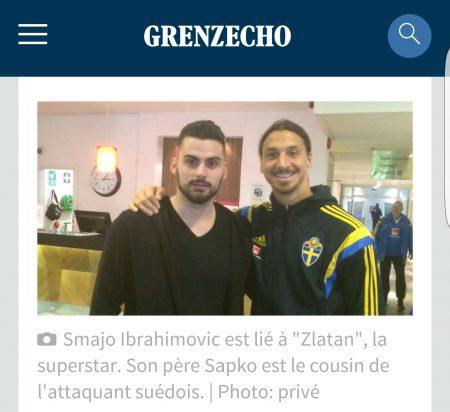 Smajo avec Zlatan (tous droits réservés grenz-echo)