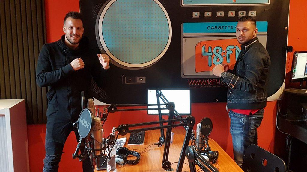 Cornet et Lambrecth ce lundi dans les studios de 48 fm. (photo 48 fm).